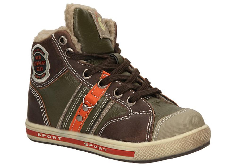 Dziecięce TRZEWIKI 1XC6229-W brązowy;zielony;pomarańczowy