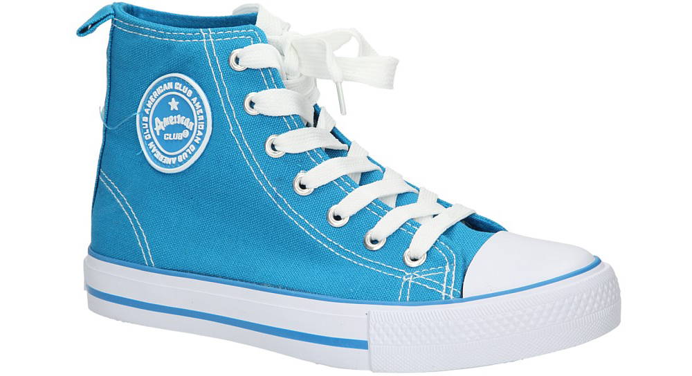 Damskie TRAMPKI AMERICAN LH-9120-8 niebieski;biały;