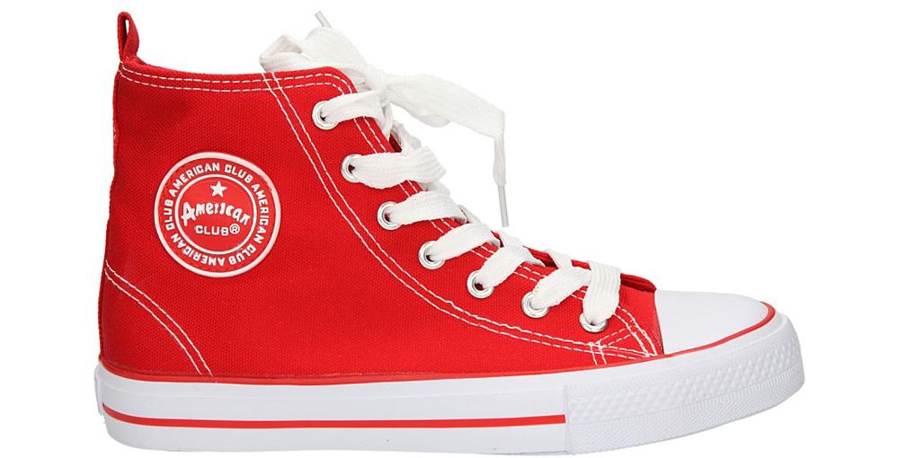 Męskie TRAMPKI AMERICAN LH-9120-6 czerwony;biały;
