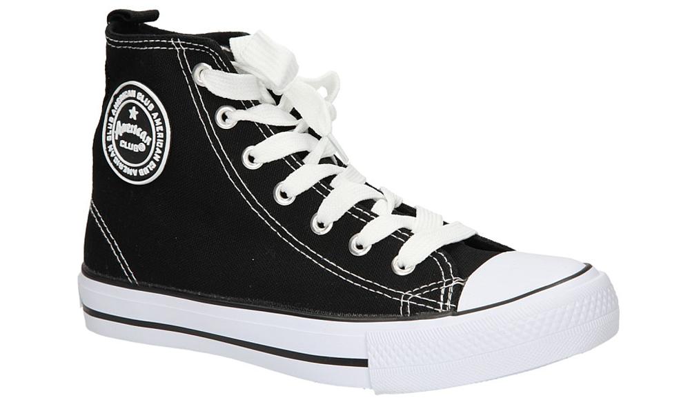 Damskie TRAMPKI AMERICAN LH-15-9120-10 czarny;biały;