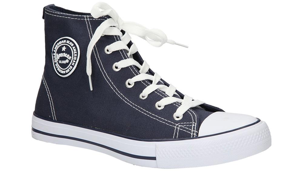 Męskie TRAMPKI AMERICAN LH-9120-1 niebieski;biały;