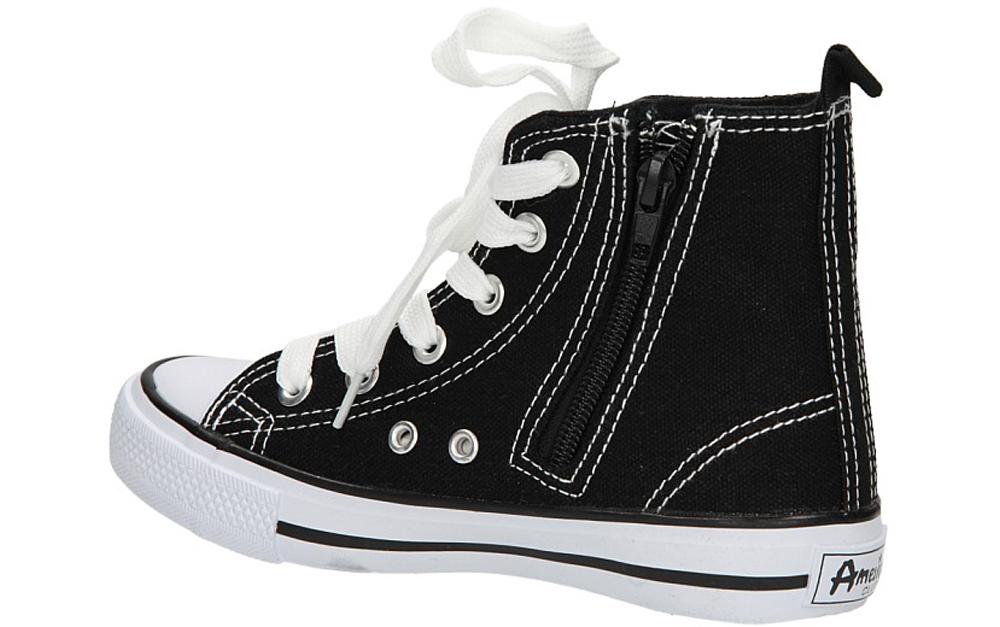 Dziecięce TRAMPKI AMERICAN LH-9120-1 czarny;biały;
