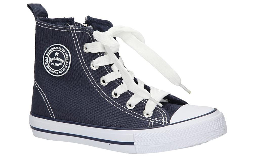 Dziecięce TRAMPKI AMERICAN LH-9120-1 niebieski;biały;
