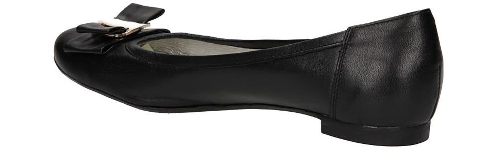 Damskie BALERINY CASU 745 czarny;;