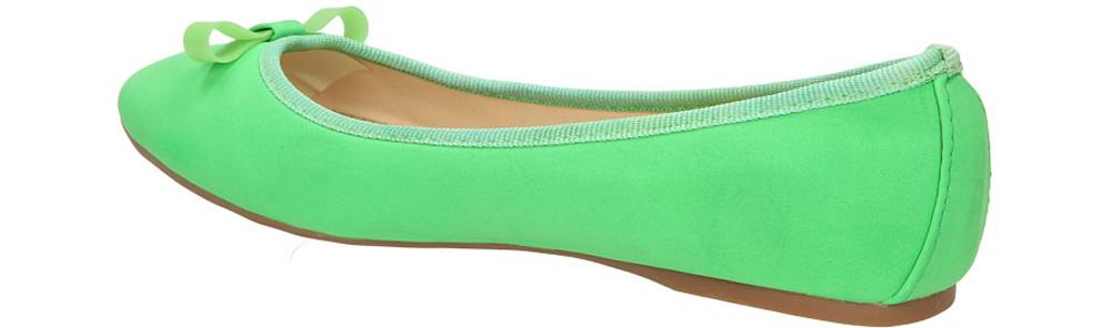 BALERINY CASU W23-2 kolor jasny zielony