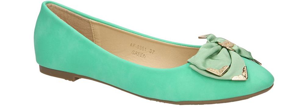 Damskie BALERINY CASU AF-8351 zielony;;