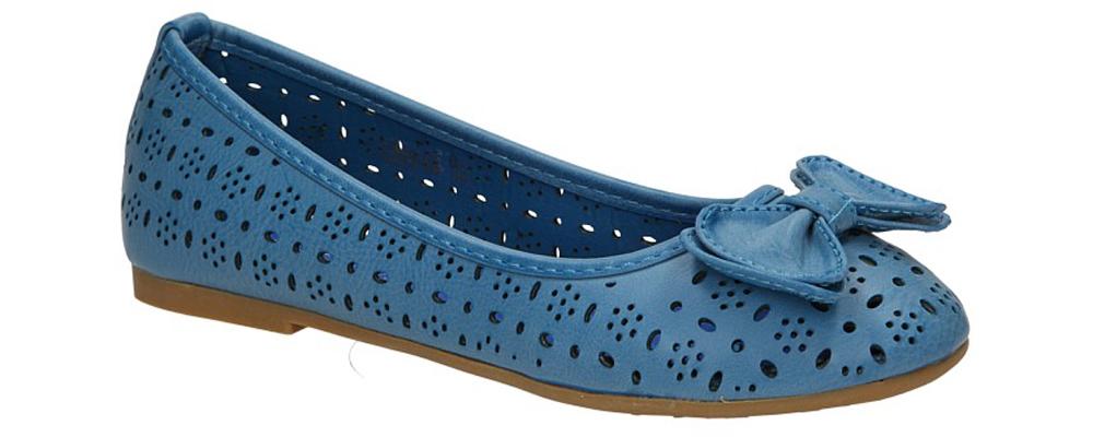 Dziecięce BALERINY 3205-09 niebieski;;