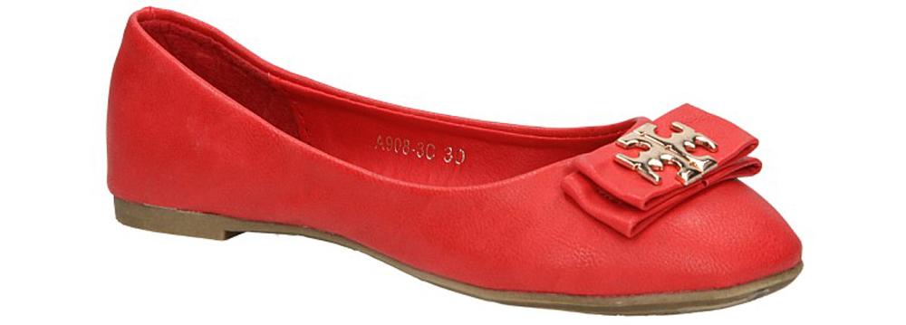 Dziecięce BALERINY A908-3C czerwony;;