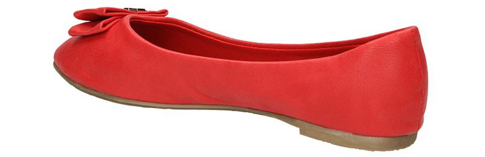 BALERINY A908-3C kolor czerwony