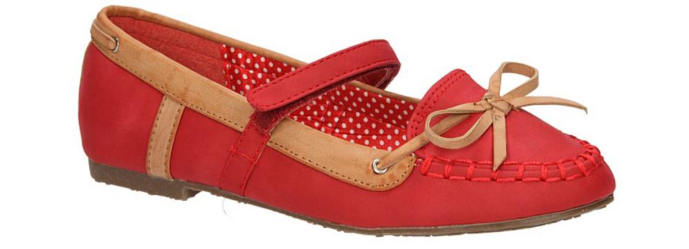 Dziecięce BALERINY K3008-A37 czerwony;;
