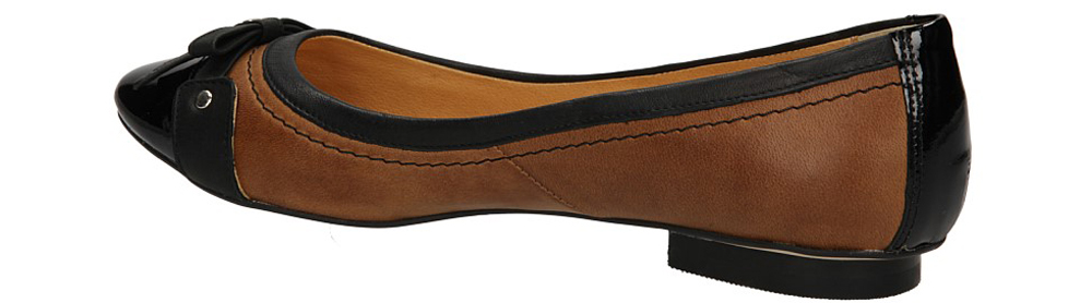 BALERINY OLEKSY 1306/579/ kolor brązowy, czarny