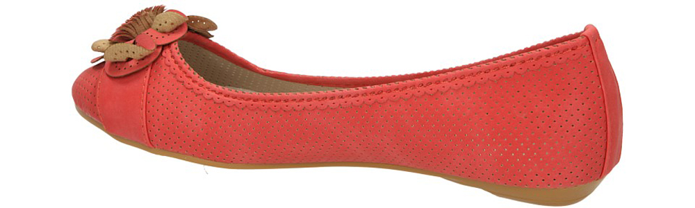 BALERINY VINCEZA R13-D-P-70 kolor czerwony
