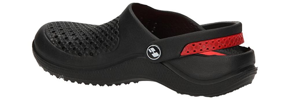 KLAPKI K350B kolor czarny, czerwony