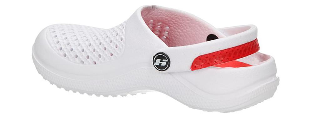 Dziecięce KLAPKI K350A biały;czerwony;