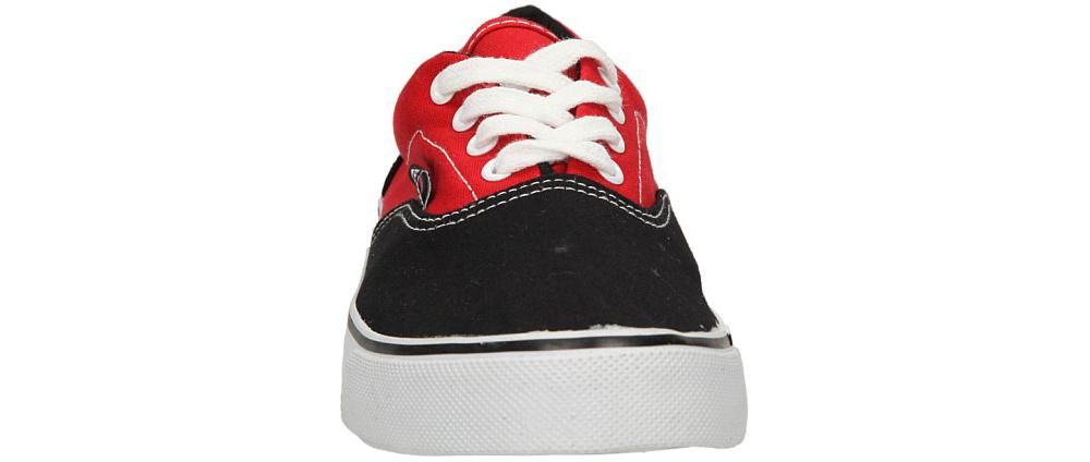 Męskie TRAMPKI CASU 412-1 czarny;czerwony;
