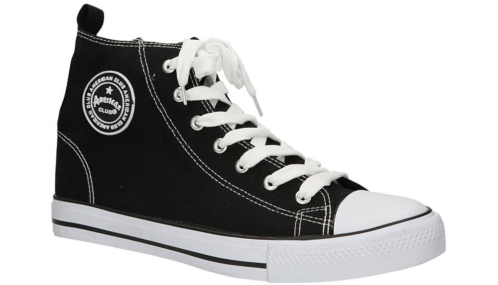 Męskie TRAMPKI AMERICAN LH-9120-10 czarny;biały;
