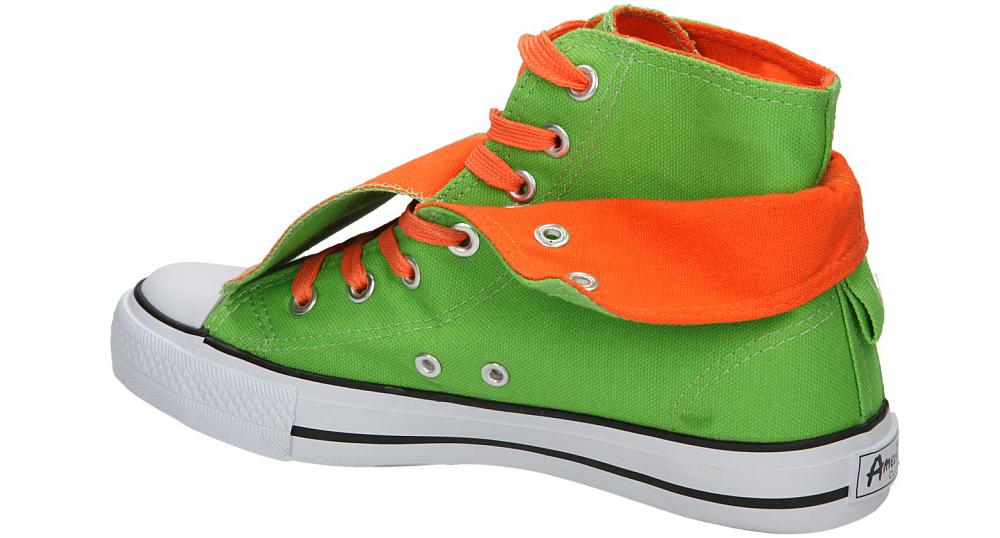 TRAMPKI AMERICAN LH-9121-1 kolor jasny zielony, pomarańczowy