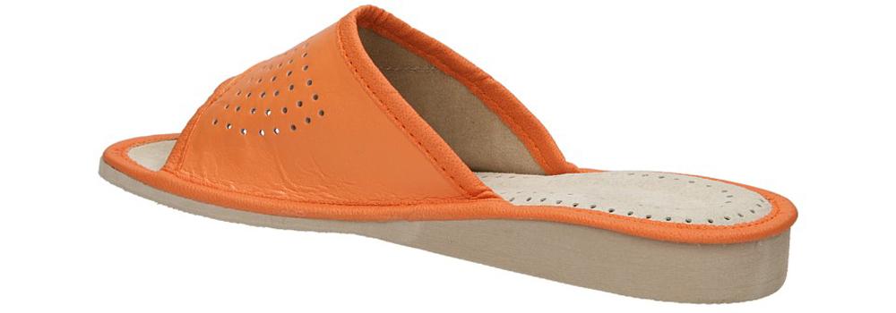OBUWIE CASU DOMOWE D-02 kolor jasny beżowy, pomarańczowy