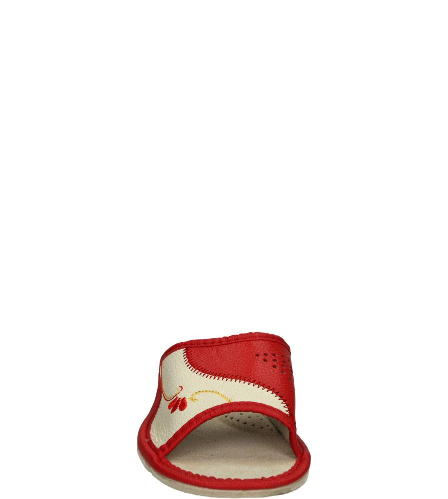 Damskie KAPCIE CASU D-02 beżowy;czerwony;
