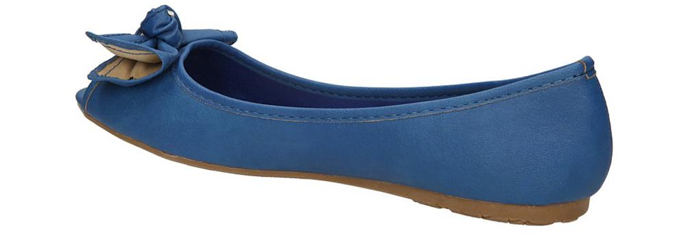 BALERINY CASU Z8123 kolor niebieski