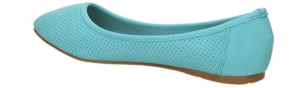 BALERINY CASU 11265 kolor niebieski