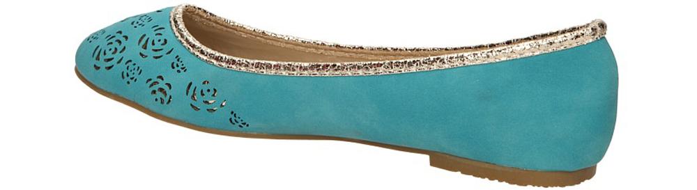BALERINY CASU 206 kolor niebieski