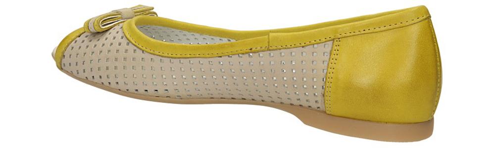 BALERINY CASU 067 kolor beżowy, żółty
