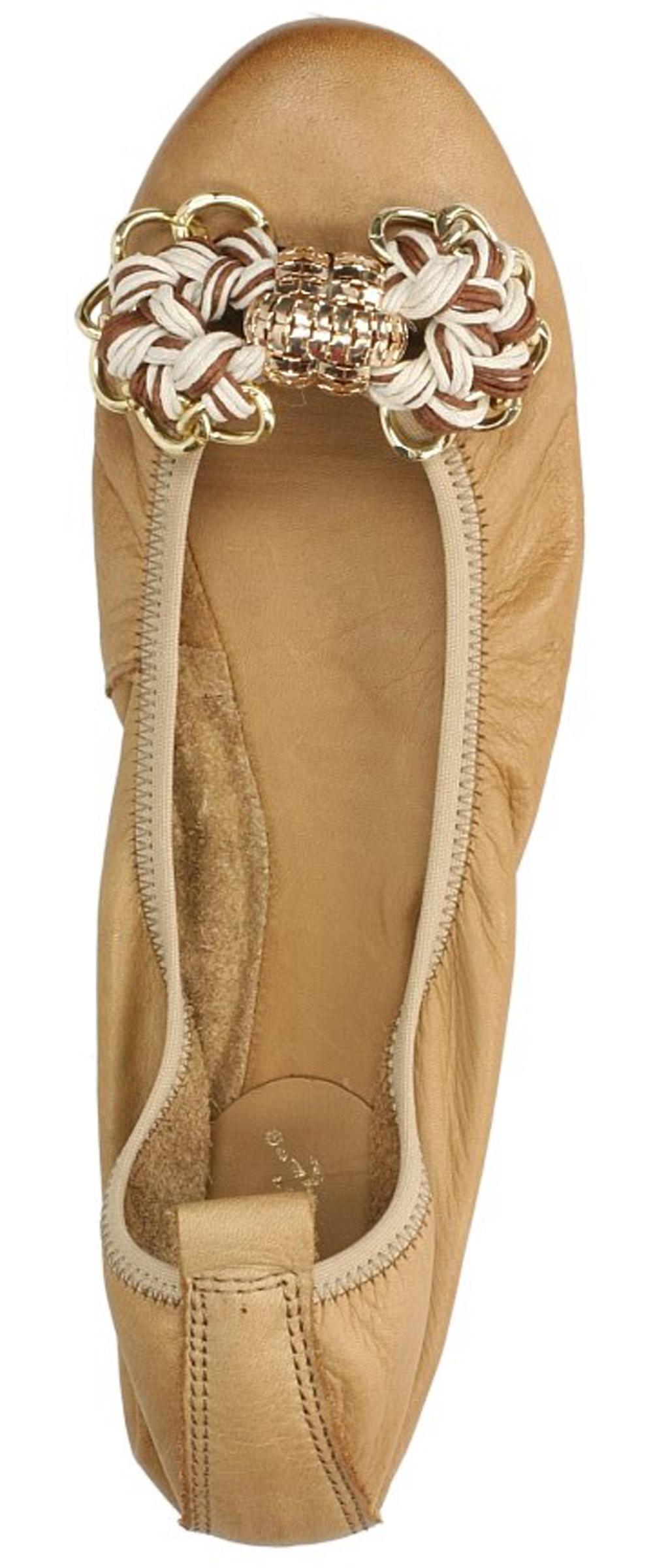 BALERINY CARINII MK1816 kolor cappucino
