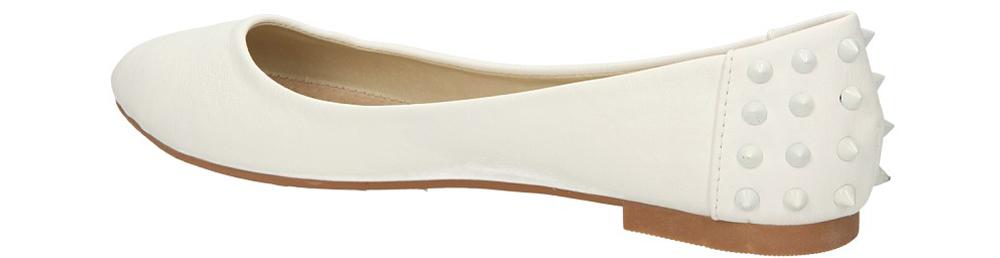 BALERINY CASU MIRA&BELLA kolor biały
