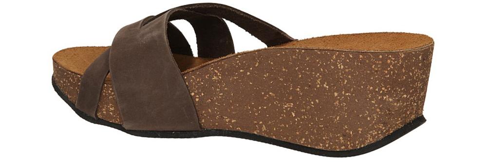 KLAPKI INBLU ZB000012 kolor ciemny brązowy