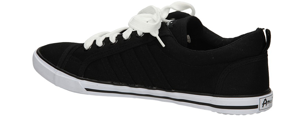 TRAMPKI AMERICAN LH-2013-01 kolor biały, czarny