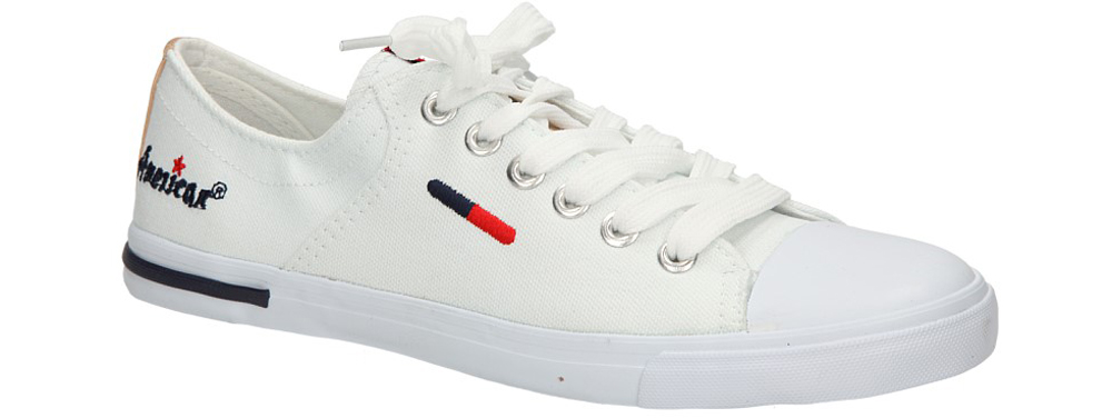 Męskie TRAMPKI AMERICAN LH-14-04-4 biały;;