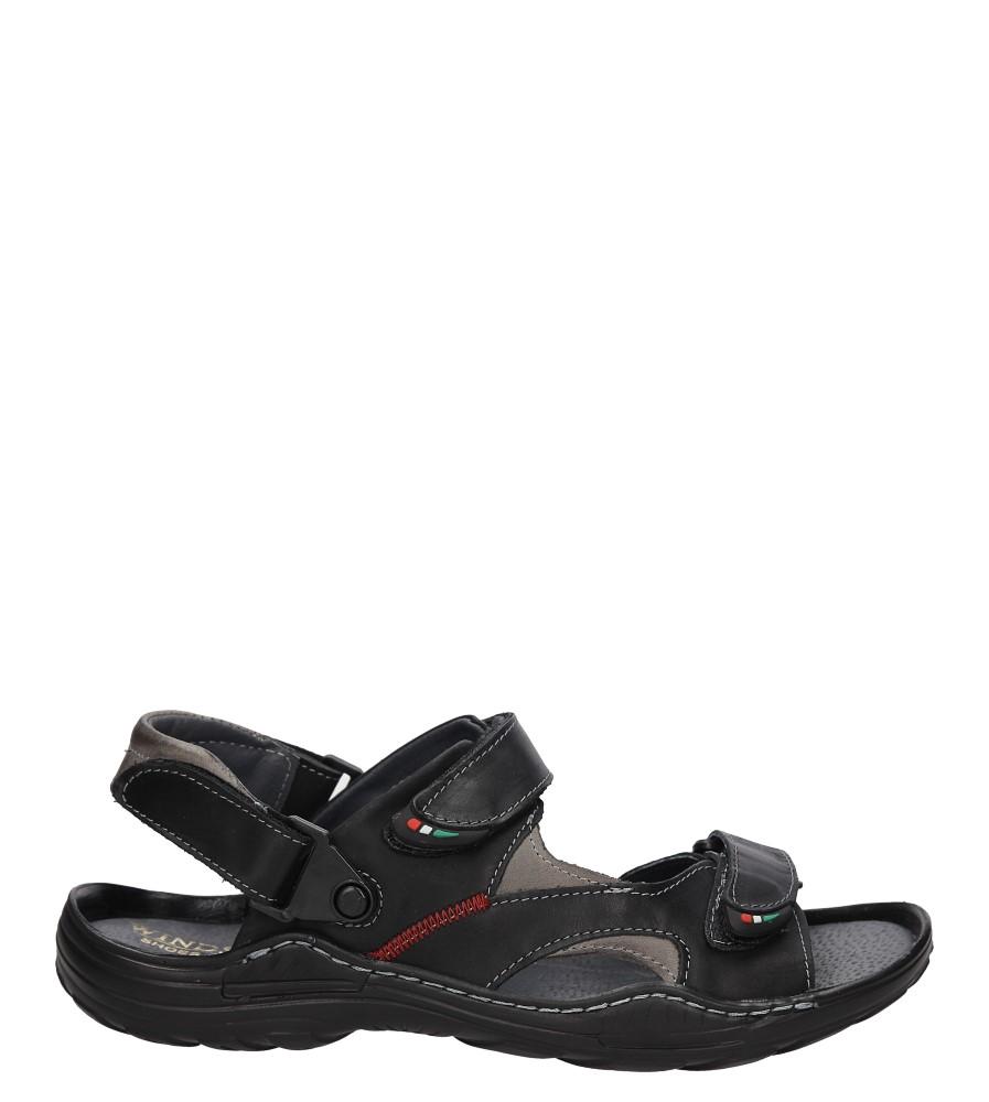 Męskie Sandały skórzane Windssor 362 czarny;;
