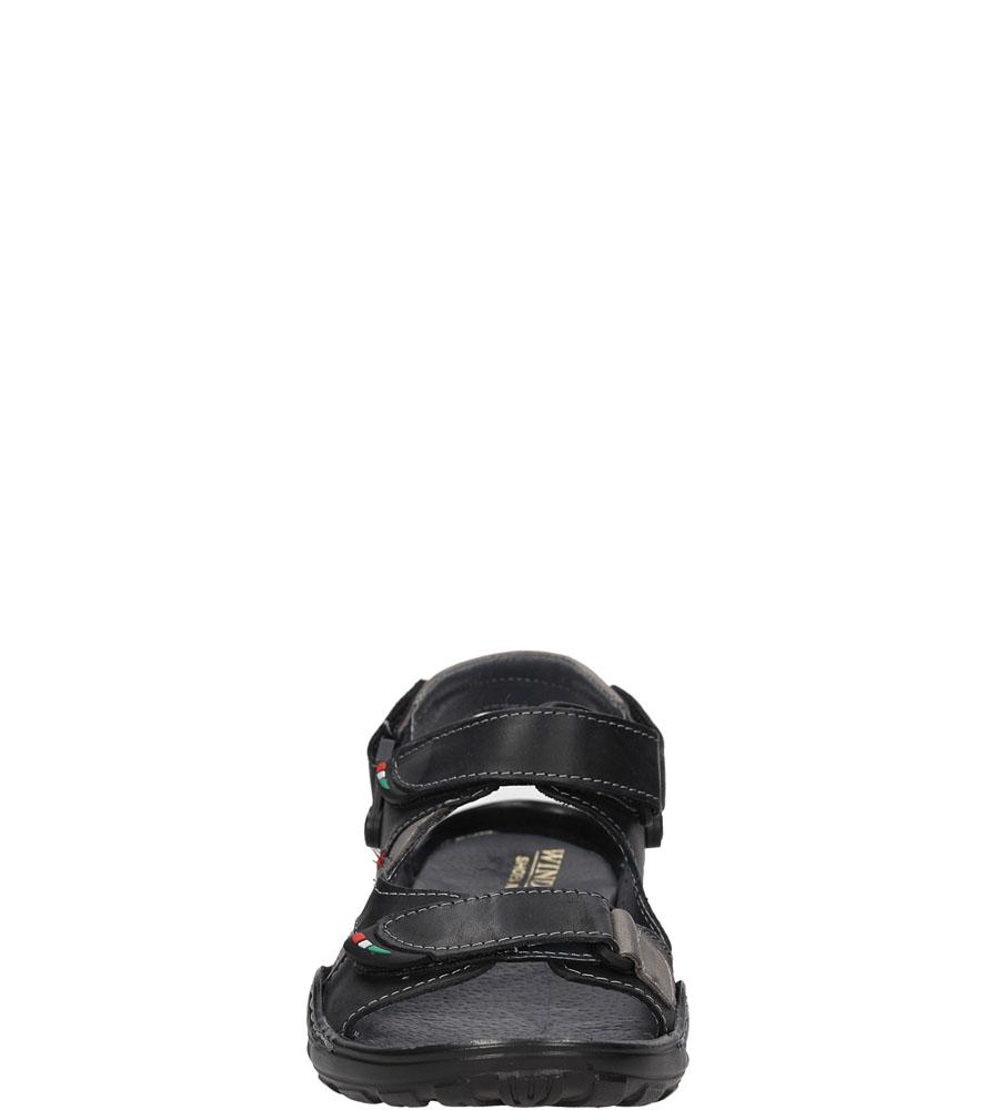Sandały skórzane Windssor 362 kolor czarny