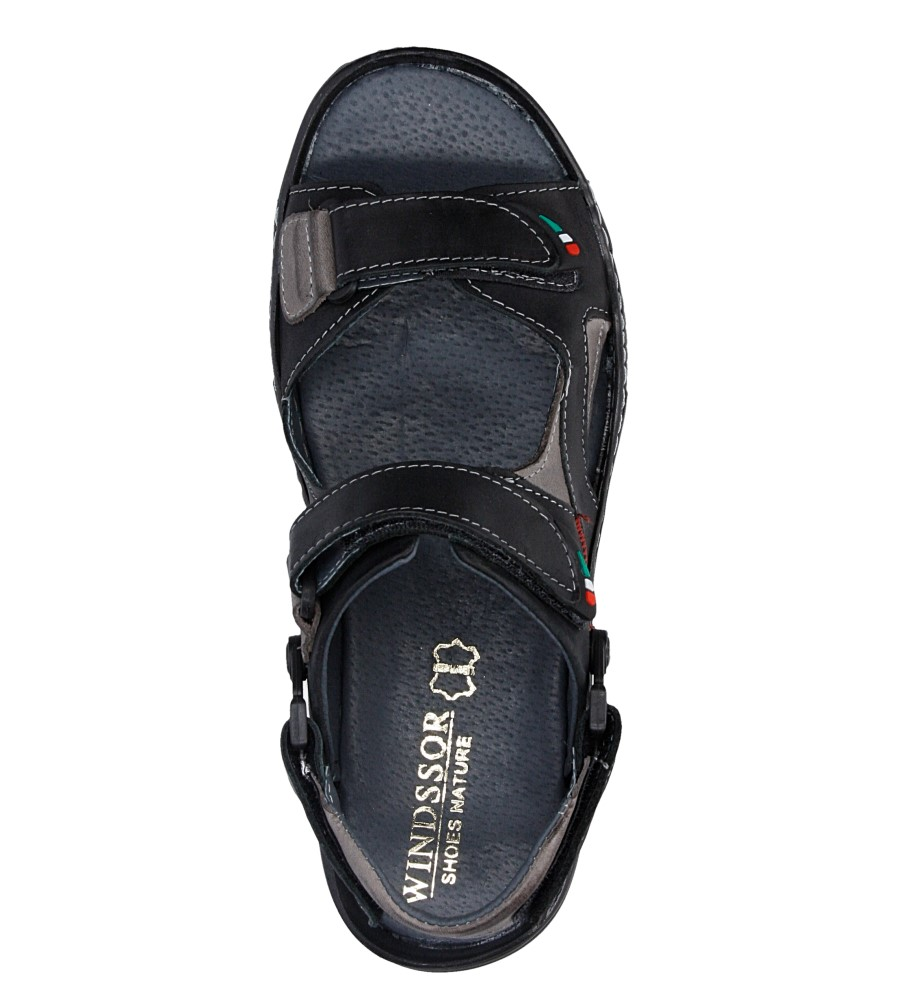 Sandały skórzane Windssor 362 wys_calkowita_buta 13 cm