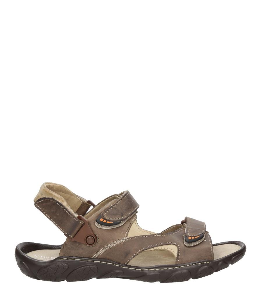 Męskie Sandały skórzane Windssor 362 brązowy;;