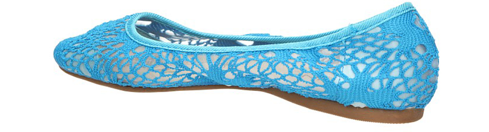 BALERINY CASU ZR7104 kolor niebieski