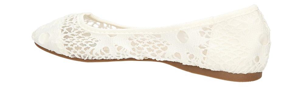 BALERINY CASU ZR7104 kolor biały