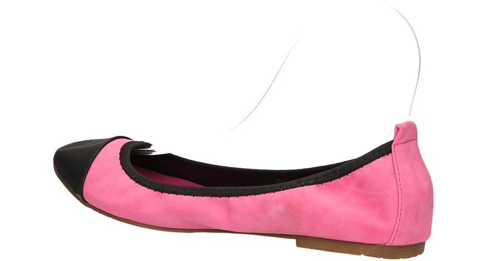 Damskie BALERINY CASU X962 różowy;;