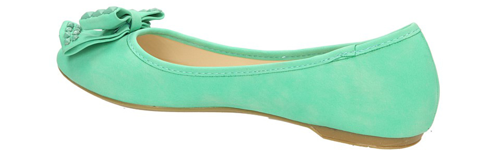 Damskie BALERINY CASU DS3502 zielony;;