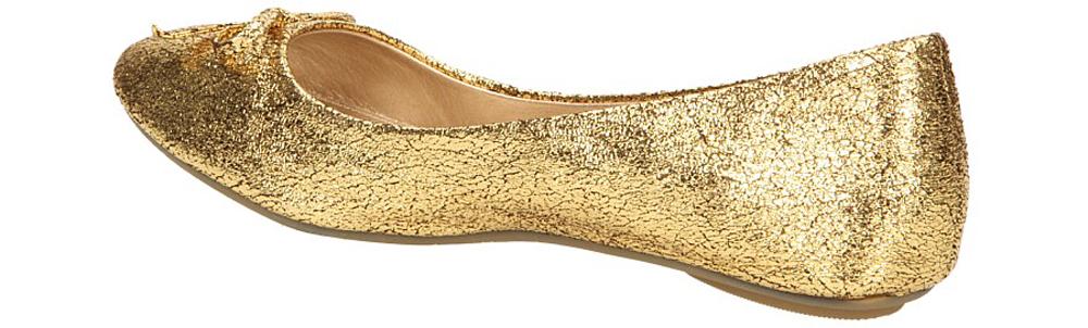 BALERINY CASU A6-3 kolor złoty