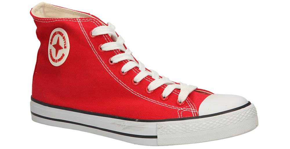 Męskie TRAMPKI CASU 4266-2 czerwony;;