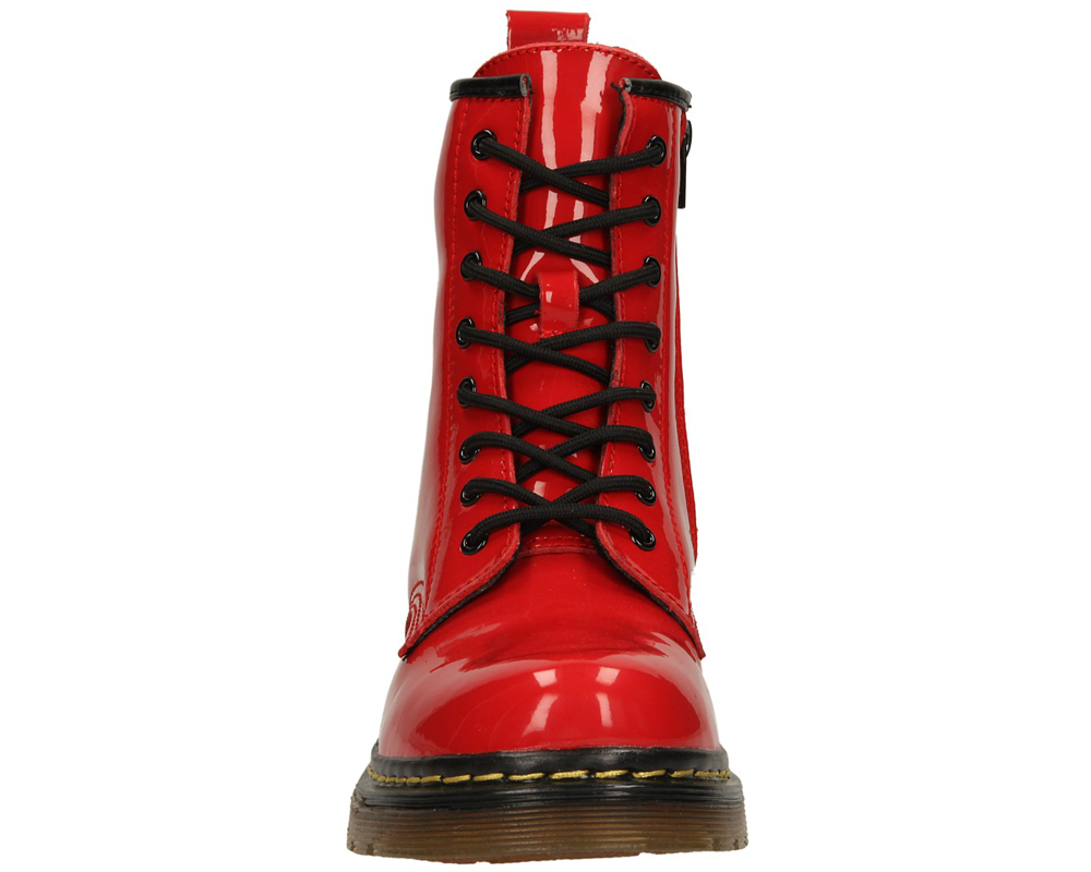 Damskie TRZEWIKI MCKEY R13-D-GL-03 czerwony;;