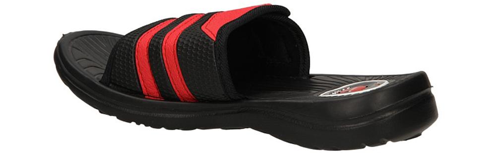 Dziecięce KLAPKI C210-3 czarny;czerwony;