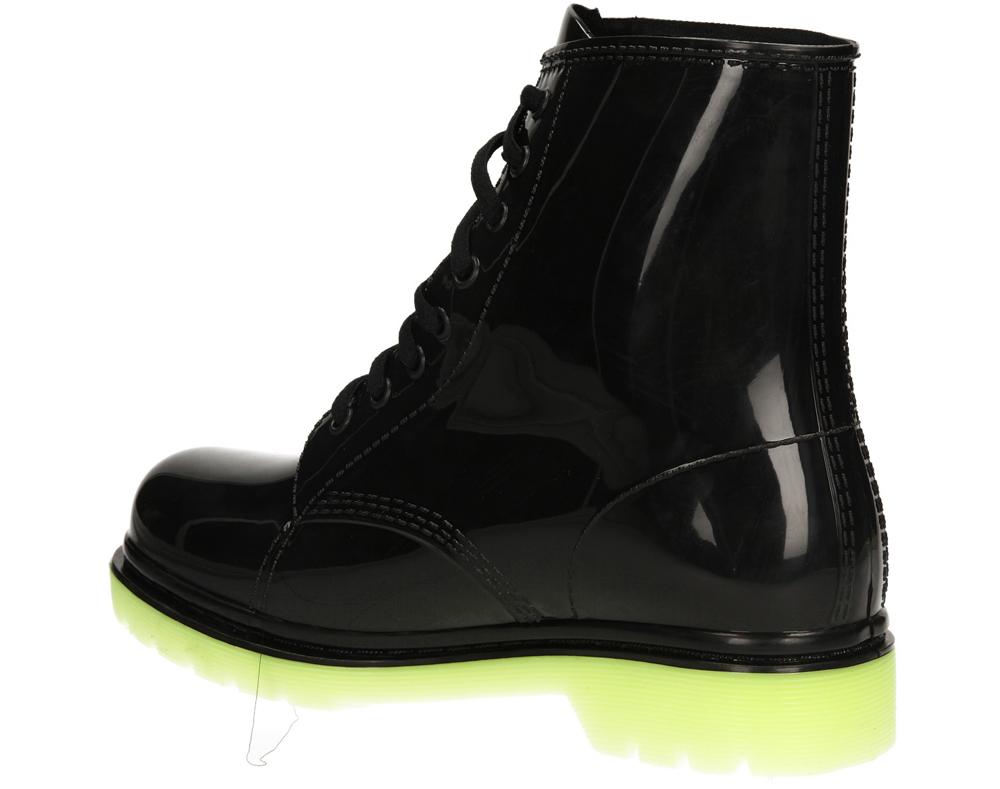 Damskie KALOSZE CASU 6792 czarny;zielony;