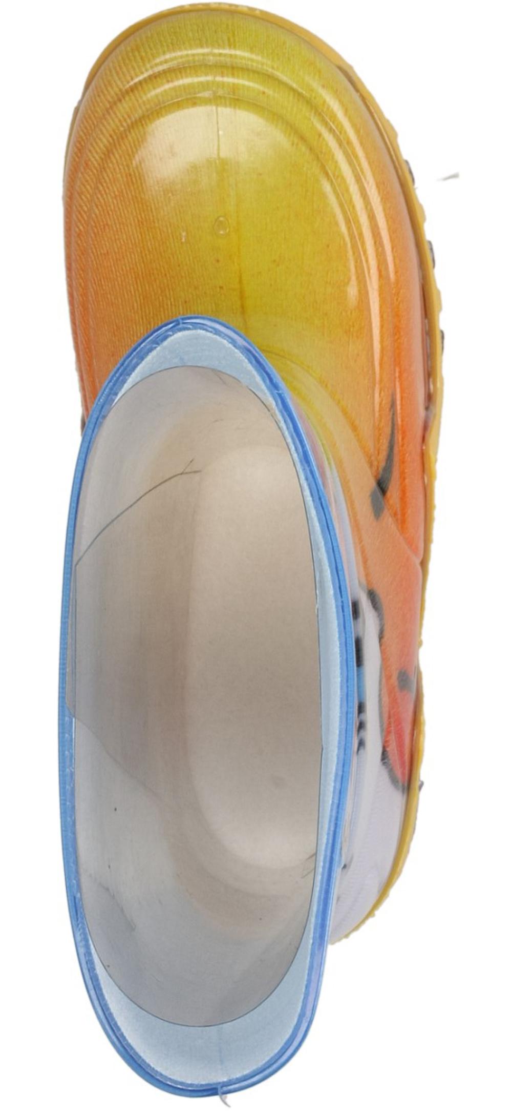 KALOSZE 0027 kolor biały, niebieski, pomarańczowy