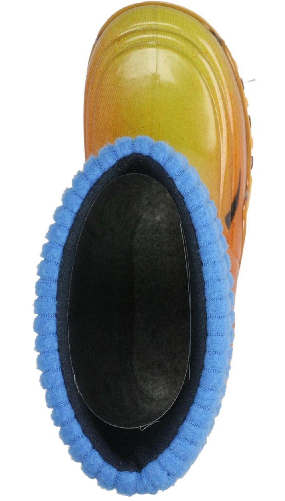 KALOSZE 0029 kolor biały, niebieski, pomarańczowy