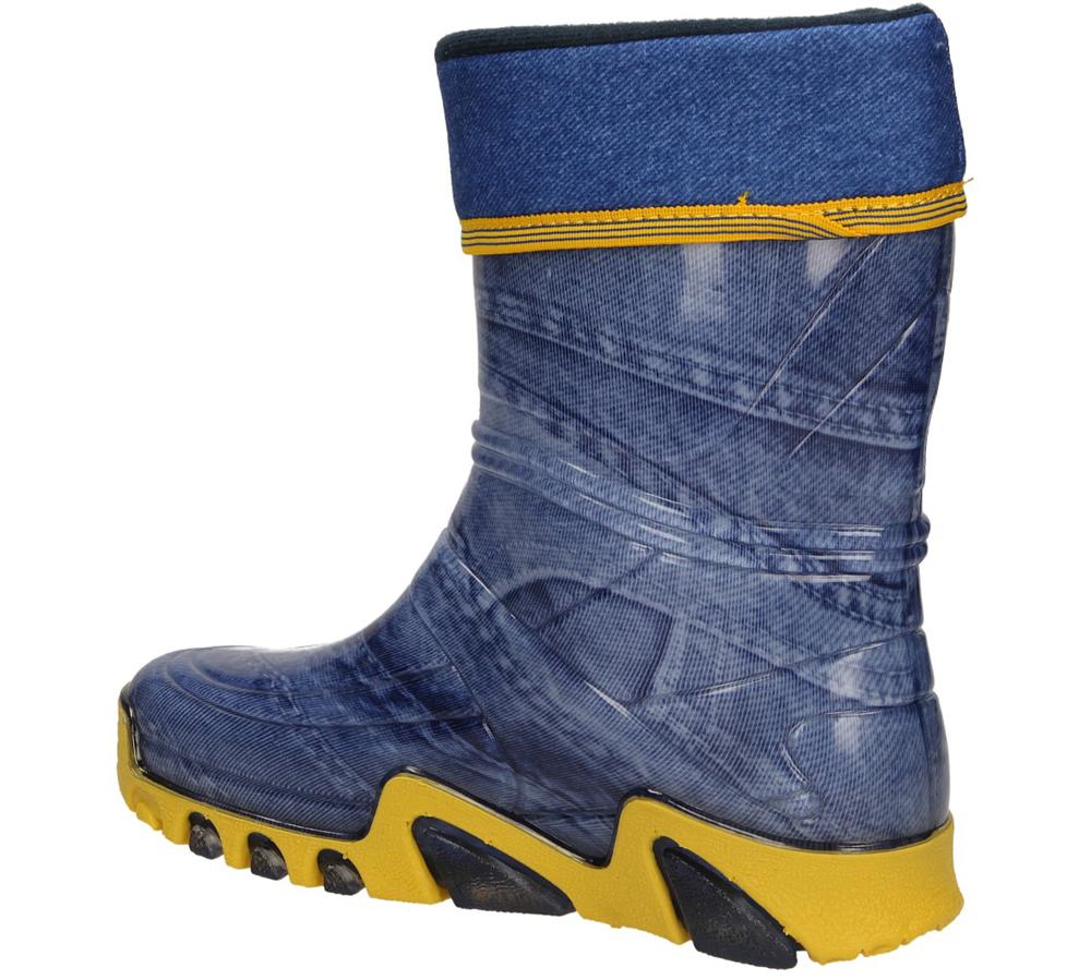 KALOSZE 0024 kolor niebieski, żółty