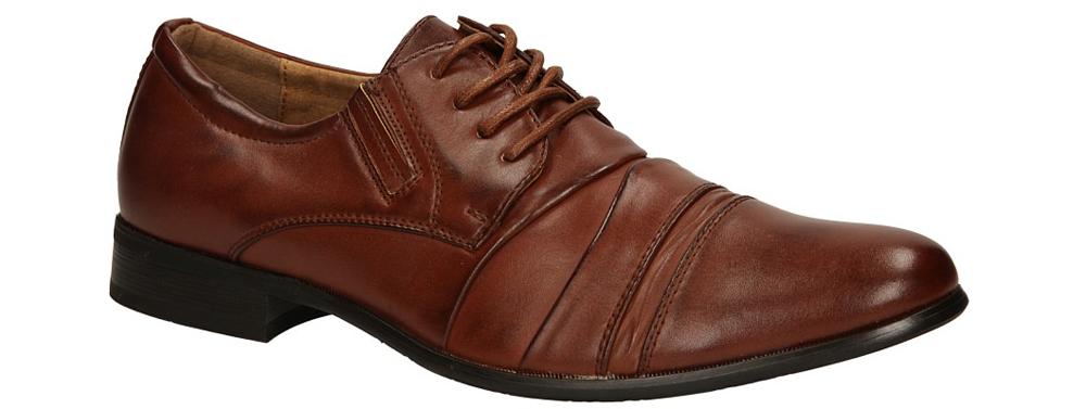 Brązowe buty wizytowe sznurowane Casu 1112-3 producent Casu