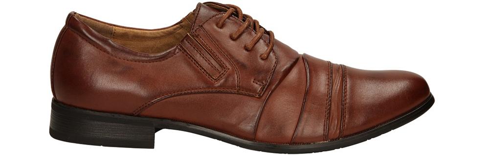 Brązowe buty wizytowe sznurowane Casu 1112-3 model 1112-3
